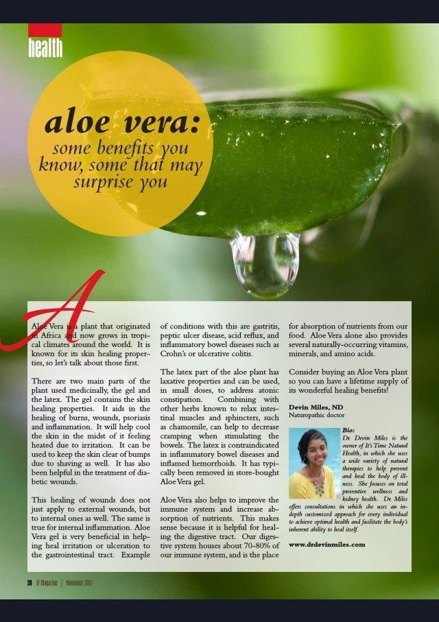 Aloe Vera Article