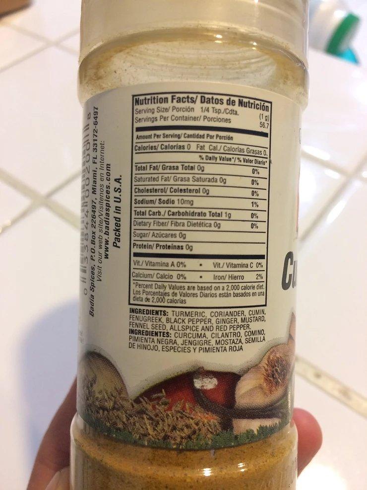 Spice blend ingredients