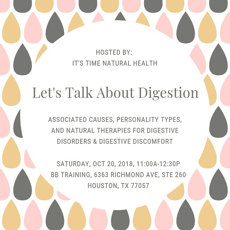 Let's talk about digestion